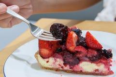 Mieszanki tarta jagodowy tort Zdjęcia Stock