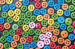 Mieszany coloured jaskrawy guzika tło Obrazy Royalty Free