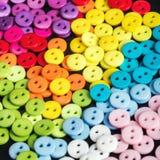 Mieszany coloured jaskrawy guzika tło Zdjęcie Stock