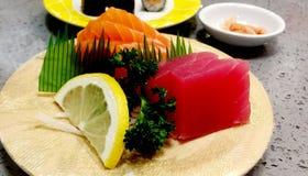 Mieszany Japoński jedzenie słuzyć w restauraci fotografia royalty free