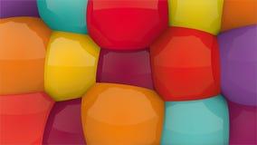 Mieszany kolor zabawy tło Ty utrzymuje 3d formę możesz zmieniać kolor ilustracja wektor