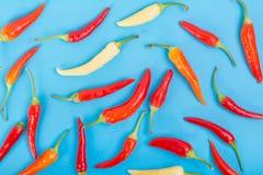 Mieszany koloru chili pieprzu tło obraz stock