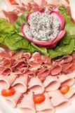Mieszany Mięsny coldcut tekstury zbliżenia tło zdjęcie royalty free