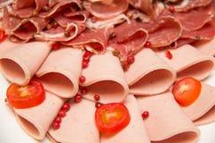 Mieszany Mięsny coldcut tekstury zbliżenia tło fotografia royalty free