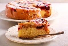 Mieszany owoc tort z lodowacenie dżdżą Obrazy Stock