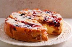 Mieszany owoc tort z lodowacenie dżdżą Obraz Stock
