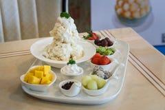 Mieszany Owocowy lody Bingsu koreańczyka deser Fotografia Royalty Free