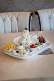 Mieszany Owocowy lody Bingsu koreańczyka deser Zdjęcie Royalty Free
