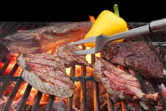 Mieszany Piec mięso na BBQ grillu obraz royalty free