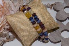 Mieszanych naturalnych kamień kolii menchii ametysta citrine kwarcowy chabet zdjęcie stock