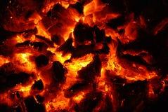 mieszkają węgla Fotografia Stock