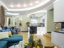 Mieszkania żywy izbowy wnętrze Obraz Royalty Free
