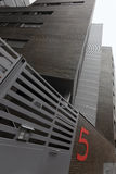 mieszkania cegły pięć domowa liczba miastowa Zdjęcia Stock