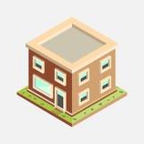 Mieszkania 3d Isometric dom - Wektorowa ilustracja ilustracji