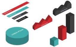 Mieszkania 3d isometric infographic Zdjęcia Stock