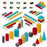 Mieszkania 3d isometric infographic dla twój biznesowych prezentacj Obraz Stock