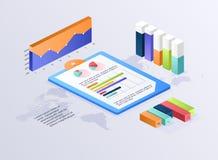 Mieszkania 3d isometric infographic dla twój biznesowych prezentacj C royalty ilustracja