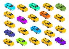Mieszkania 3d Isometric Samochodowy taxi ilustracja wektor
