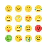 Mieszkania emoticon stylowy set Zdjęcie Stock