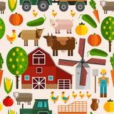 Mieszkania gospodarstwa rolnego wzór ilustracja wektor