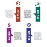 Mieszkania Infographic projekta Pudełkowaty szablon royalty ilustracja