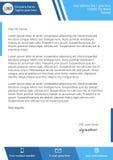 Mieszkania letterhead stylowy nowożytny błękitny szablon Obrazy Stock