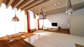 mieszkania linia horyzontu studio Zdjęcie Royalty Free