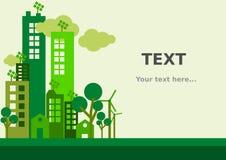 Mieszkania miasta Zielony tło Fotografia Royalty Free