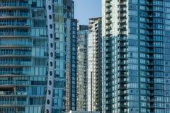 Mieszkania, mieszkania własnościowego Highrises/ Obrazy Stock