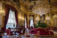 Mieszkania Napoleon III w louvre muzeum fotografia stock