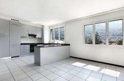 mieszkania nowy pusty kuchenny Obraz Stock