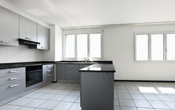 mieszkania nowy pusty kuchenny Zdjęcie Royalty Free