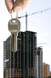 mieszkania palców klucz Zdjęcia Royalty Free