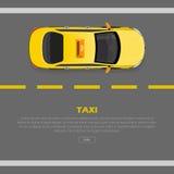 Mieszkania Stylowy 3d Isometric Wysokiej Jakości Samochodowy taxi ilustracji