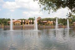 Mieszkania własnościowe i mieszkania wodą Fotografia Royalty Free