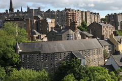 Mieszkania w Edynburg mieście Zdjęcia Stock