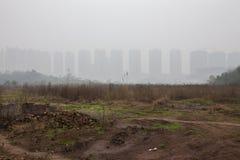 Mieszkania w mgle zdjęcie stock