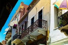 Mieszkanie balkon w Chania, Crete obraz stock
