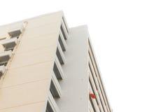 Mieszkanie budynek na białym tle fotografia royalty free