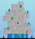 mieszkanie budynku biura w interesach miejsca pracy royalty ilustracja