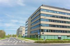 mieszkanie budynku biura w interesach miejsca pracy Zdjęcie Stock