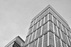 mieszkanie budynku biura w interesach miejsca pracy interes wysoki nowoczesny budynek drapacz chmur Powierzchowność budynek czarn Obrazy Stock