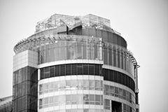 mieszkanie budynku biura w interesach miejsca pracy interes wysoki nowoczesny budynek drapacz chmur Powierzchowność budynek czarn Zdjęcie Stock