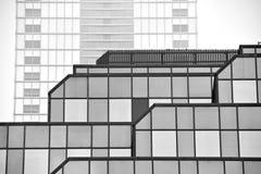 mieszkanie budynku biura w interesach miejsca pracy interes wysoki nowoczesny budynek drapacz chmur Powierzchowność budynek czarn Zdjęcia Stock