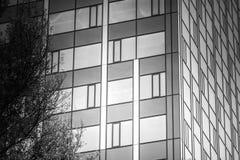 mieszkanie budynku biura w interesach miejsca pracy Tło okno Fotografia Royalty Free