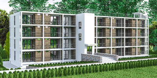 Mieszkanie - dom z ogródem Obraz Royalty Free