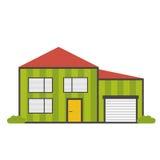 Mieszkanie domowa ikona Obrazy Stock
