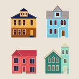Mieszkanie domowe ikony Fotografia Stock