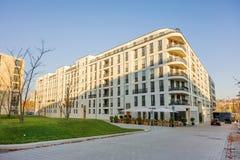 Mieszkanie domowy budynek przy kwadratowym Pariser Platz, Stuttgart Obraz Royalty Free