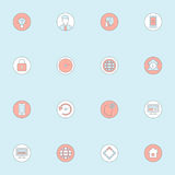 Mieszkanie icon4 Obraz Stock